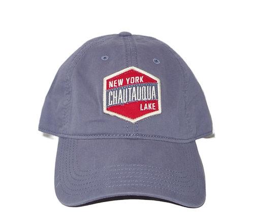 Chautauqua Lake Baseball Hat with Red Patch