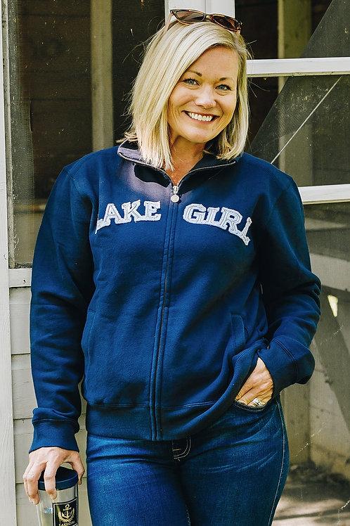Lakegirl Track Jacket in Navy