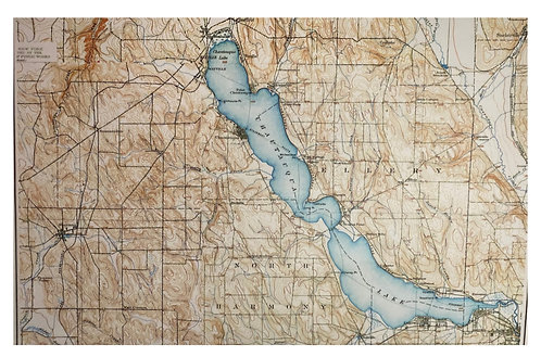 Chautauqua Lake Map Placemat