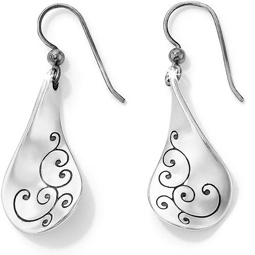 Brighton Silver Twirl French Wire Earrings