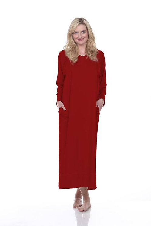 Urban MuuMuu Long Lounge Tunic in Red
