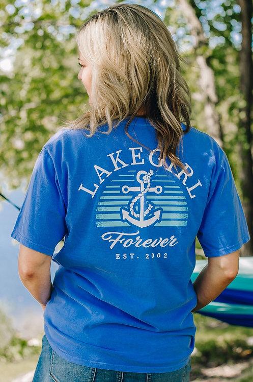 Lakegirl Forever Tee in Periwinkle