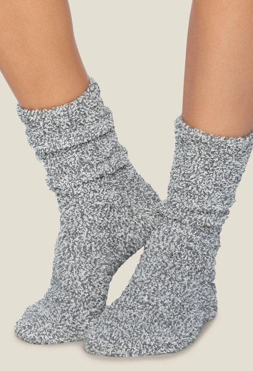 Barefoot Dreams Socks in Graphite/White