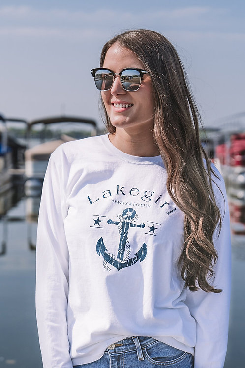 Lakegirl Always and Forever Anchor Long Sleeve Tee