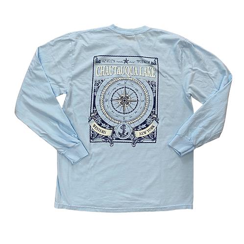 Chautauqua Lake Long Sleeve T-Shirt: Compass Rose