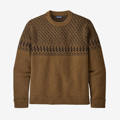 Patagonia - M's Recycled Wool Sweater in Farm Blend/Mulch Brown