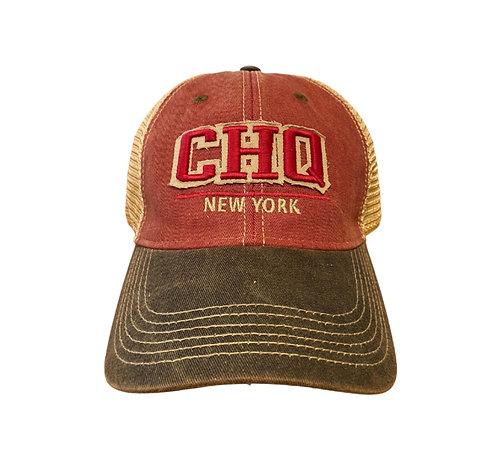 Chautauqua Lake Baseball Hat - CHQ in Cardinal/Black