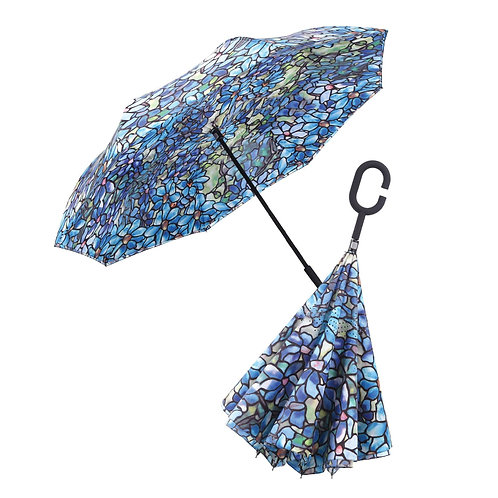 Inverted Umbrella by Rain Capers - Tiffany's Clematis