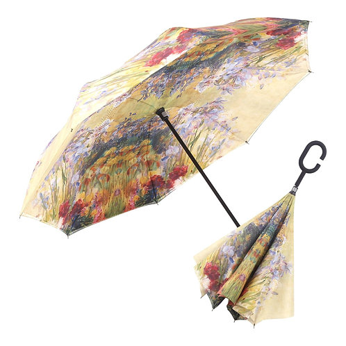 Inverted Umbrella by Rain Capers - Tiffany's Peonies and Irises
