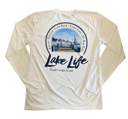 Chautauqua Lake Sun Protection Shirt in White