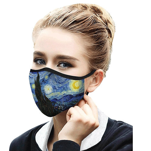 Face Mask by Rain Capers - Van Gogh's Starry Night