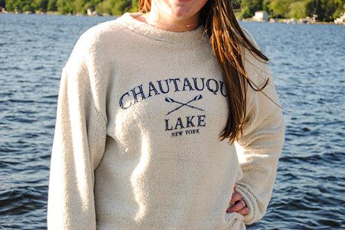 Terrycloth Chautauqua Lake Sweatshirt in Natural