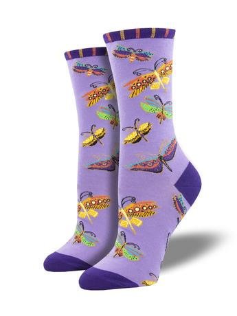Womens Socks - Laurel Burch's Flutterbyes