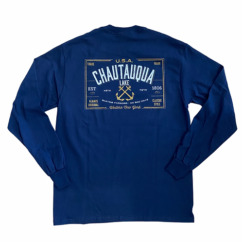 Chautauqua Lake Long Sleeve T-Shirt: Naval Crossed Anchors