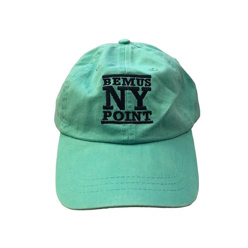 Bemus Point Baseball Hat - Stacked Logo in Seafoam