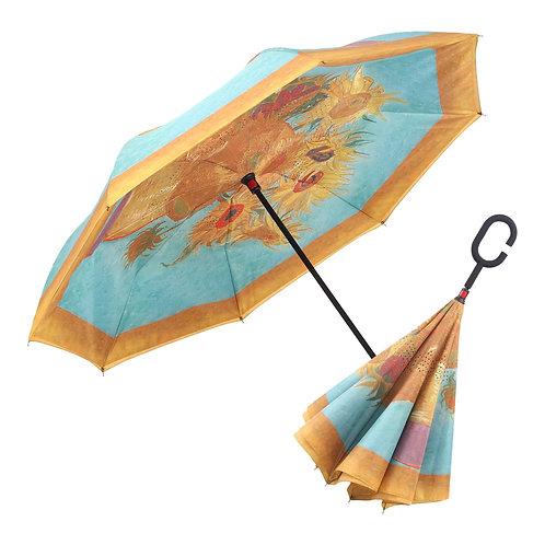 Inverted Umbrella by Rain Capers - Van Gogh's Sunflowers
