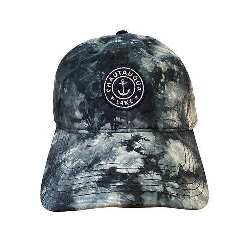 Chautauqua Lake Baseball Hat - Tie Dyed Navy