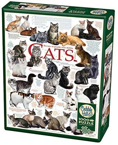 1000 Piece Puzzle - Cat Quotes