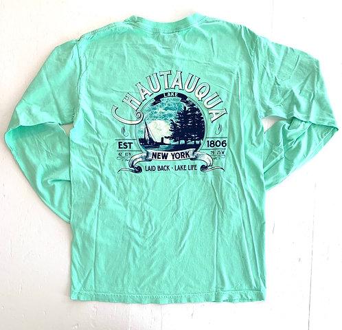 Chautauqua Lake Long Sleeve T-Shirt: Dock Sunset