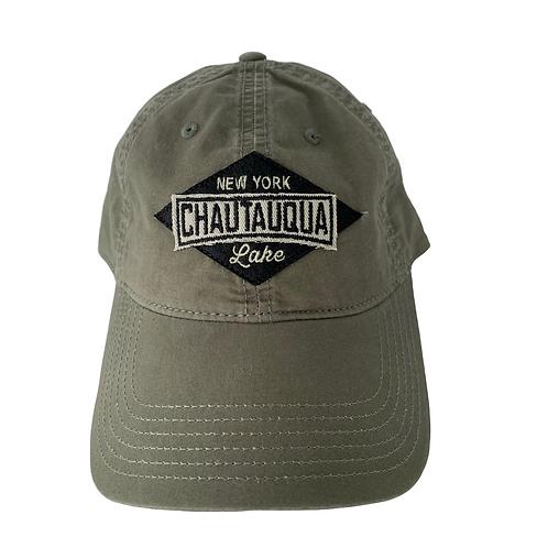 Chautauqua Lake Baseball Hat - Black Diamond Patch in Olive