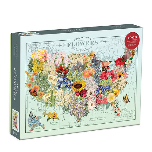 1000 Piece Puzzle - USA State Flowers - A Beautiful Bouquet