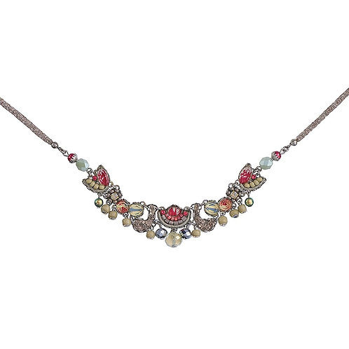 Fabric and Crystal Necklace - Como