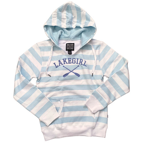 Lakegirl Striped Hoodie in Surf/Periwinkle
