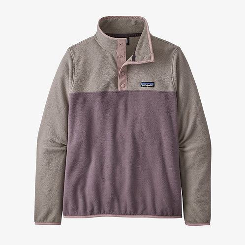 Patagonia W's Micro D Snap-T Fleece Pullover in Hyssop Purple