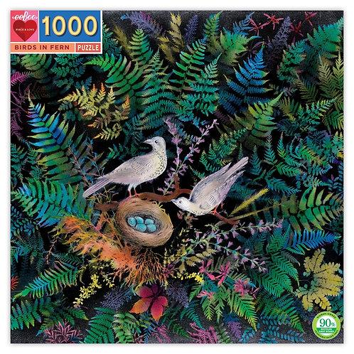 1000 Piece Puzzle - Birds in Fern