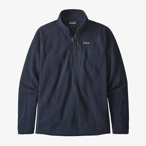 Patagonia - M's Better Sweater Ribbed 1/4 Zip in New Navy