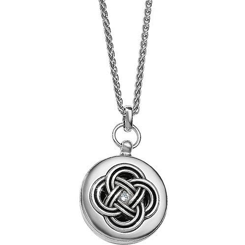 Brighton Interlok Small Round Locket Necklace