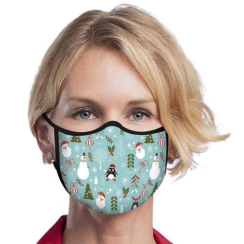 Face Mask by Rain Capers - Retro Christmas