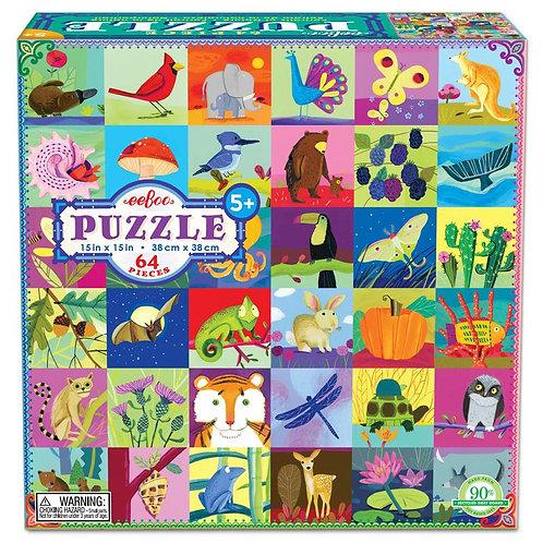 64 Piece Puzzle - Portraits of Nature