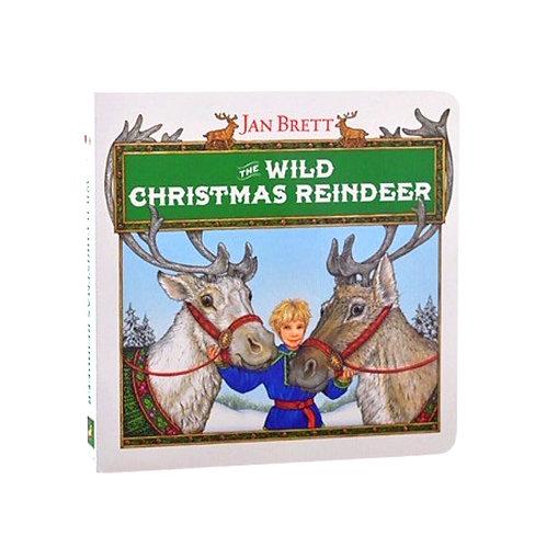 Board Book - The Wild Christmas Reindeer by Jan Brett