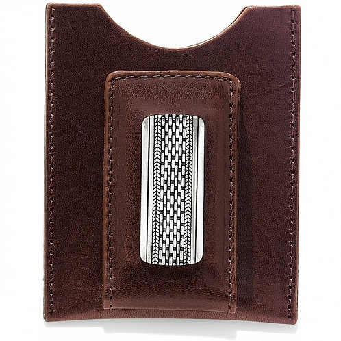 Brighton Salina Money Clip Wallet in Brown