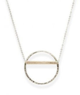 Hammered Horizon Necklace
