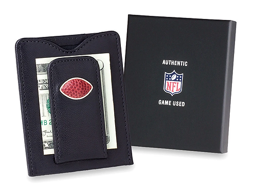 Pittsburgh Steelers Game Used Football Money Clip Wallet
