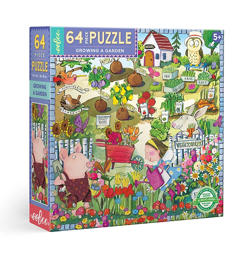 64 Piece Puzzle - Growing a Garden