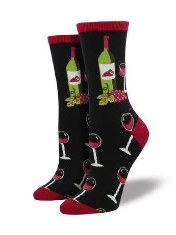 Womens Socks - Wine