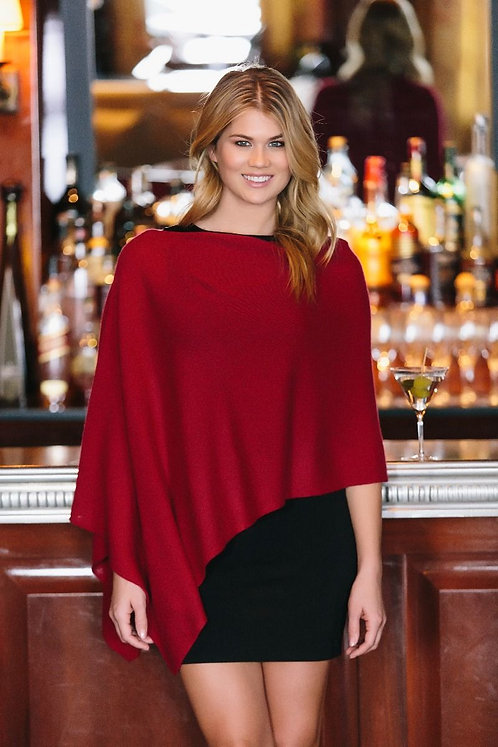 Cashmere Poncho - Yellows, Purples, Pinks