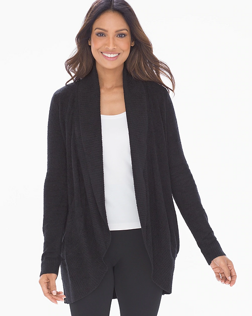 Barefoot Dreams Circle Cardigan in Black