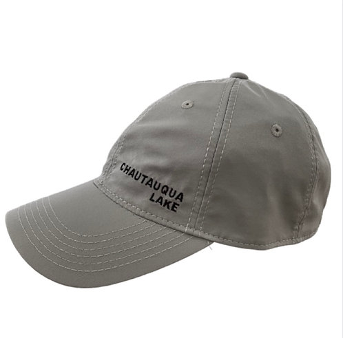 Chautauqua Lake Baseball Hat - Cool Fit with Side Logo in Gray
