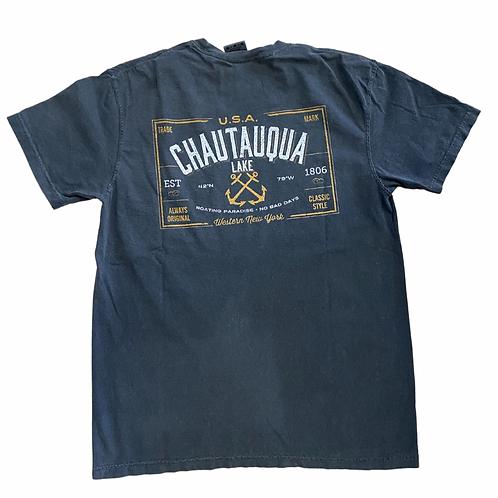 Chautauqua Lake Short Sleeve T-Shirt: Naval Crossed Anchors