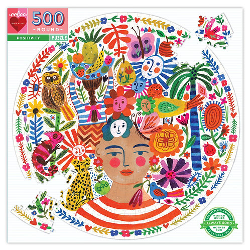 500 Piece Round Puzzle - Positivity