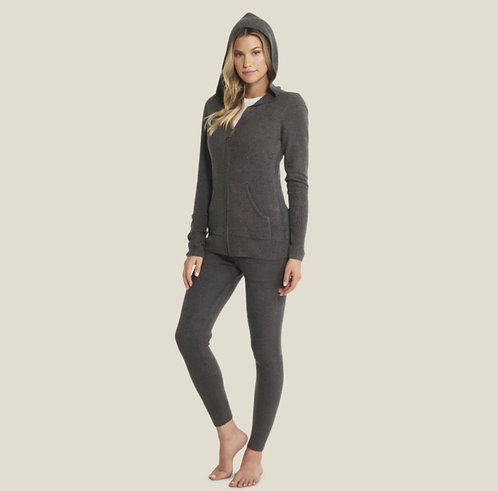 Barefoot Dreams Cozychic Lite Hoodie in Carbon