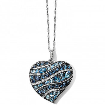 Brighton Trust Your Journey Wave Convertible Reversible Heart Necklace