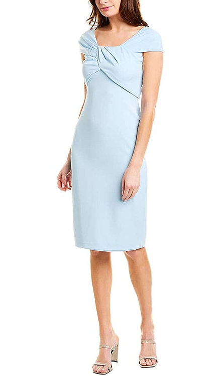 Taylor Sheath Midi Dress in Powder Blue