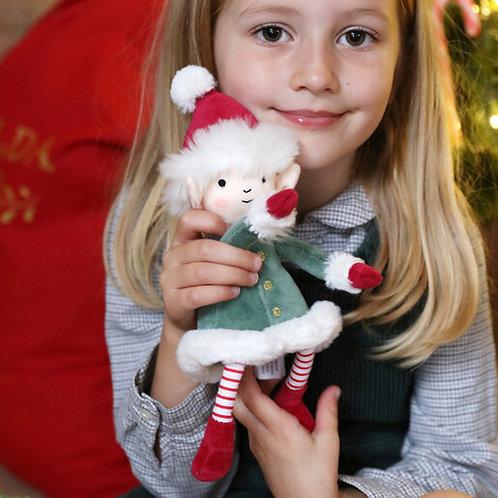 "Jellycat Leffy the Christmas Elf - 10"""