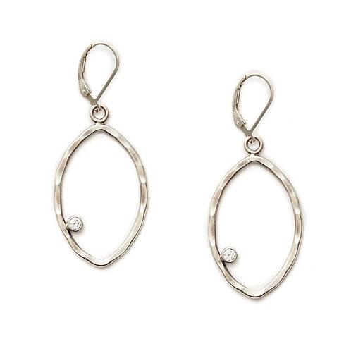 Teardrop Earrings with Sparkle