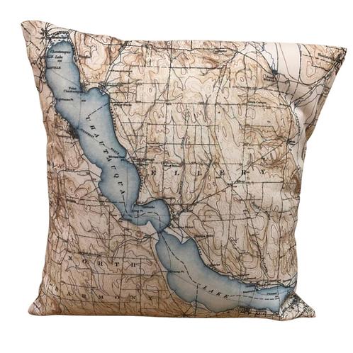 """Chautauqua Lake Pillow 16"""" x 16"""""""